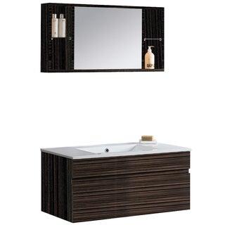 Vigo Picasso Ebony Vanity and Medicine Cabinet