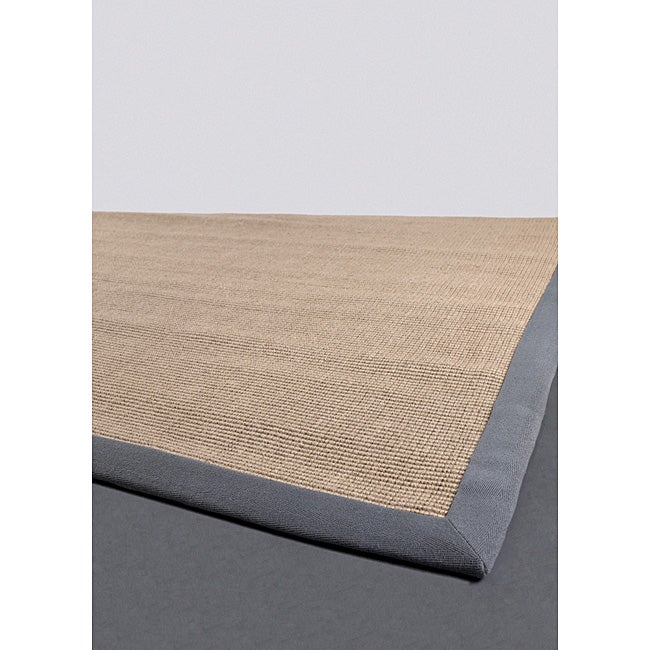 Artist's Loom Hand-woven Contemporary Border Natural Eco-friendly Sisal Rug (9'x13')