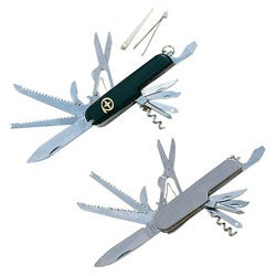 Whetstone Utility 13-function Army Pocket Knife Set (Set of 2)