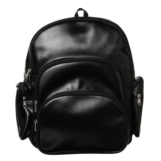 Royce Leather Royce Black 100-percent Nappa Leather Expandable Backpack with Pockets at Sears.com