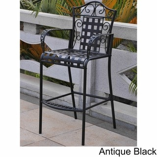 International Caravan Mandalay Iron Bar Chairs (Set of 2)