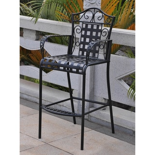 International Caravan Iron Pool Bistro Bar Height Chairs (Set of 2)