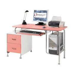 Deluxe Pink Cosmo Computer Desk Workstation