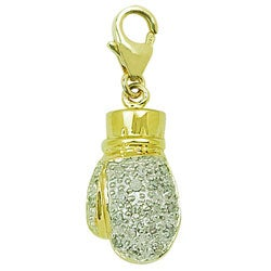 14k Yellow Gold Boxing Glove Charm