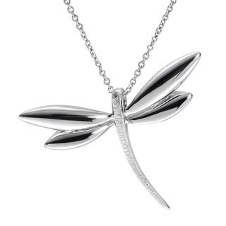 Journee Collection Sterling Silver Dragonfly Necklace
