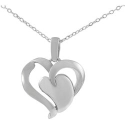 Tressa Sterling Silver Polished Modern Heart Necklace