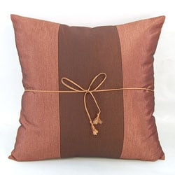 Silky Two-tone Rich Light Brown Throw Pillow Cover