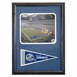 Texas Stadium Framed Photo/ Mini Pennant Collectible