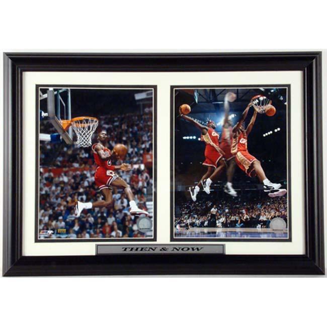 Michael Jordan/ LeBron James 12 x 18 Double Print