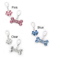 Medium Bone and Paw Charm Set