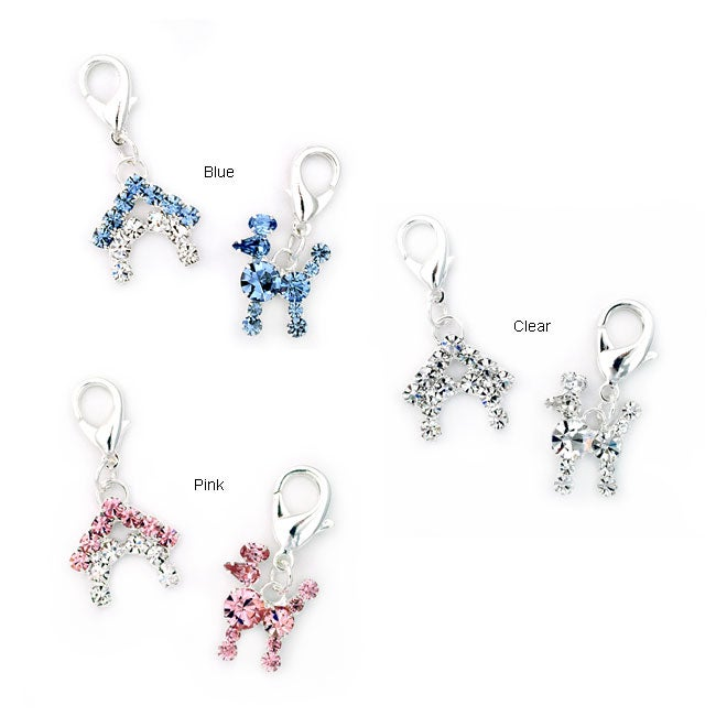 Poodle and Doghouse Charm Set
