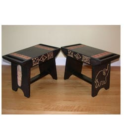 Sese Wood Ashanti All-purpose Stool (Ghana)