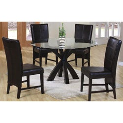 Soho Edition Bi-cast Leather Dining Chairs (Set of 2)