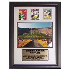 Brett Favre 12x18 Custom Framed Print with Cards