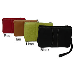Amerileather Women's Leather Mini Wristlet
