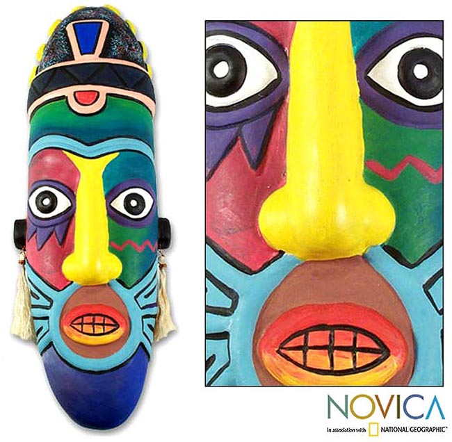 'Rainbow Pirate' Ceramic Mask (Peru)