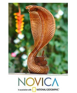 'Cobra' Wood Statuette (Indonesia)