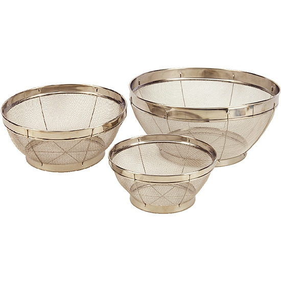Stainless Steel 3-piece Mesh Colander Set