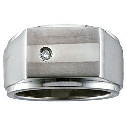 Men's Titanium Diamond Ring