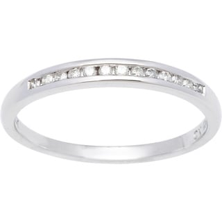 Haylee Jewels 10k White Gold 1/8ct TDW Diamond Band (J-K, I2-I3)