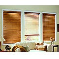 Golden Oak Real Wood Blinds (63 in. x 64 in.)