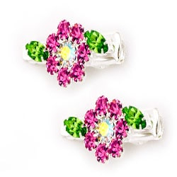 Crystal Flowers Hair Gator Clips (Set of 2)