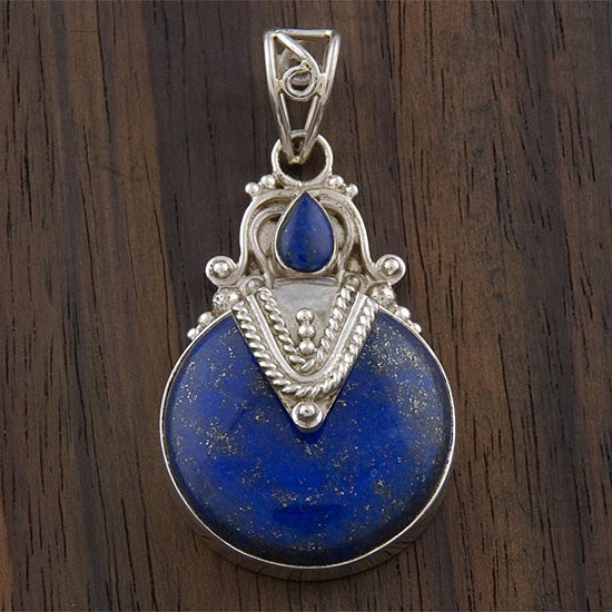 Sterling Silver Lapis Lazuli Pendant (India)