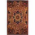 Safavieh Handmade Classic Empire Burgundy/ Black Wool Rug (3' x 5')