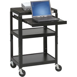 Balt Adjustable Height Utility Cart with Laptop Shelf