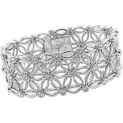 Miadora 18k White Gold 7 1/5ct Diamond Bracelet (G-H-I, SI )