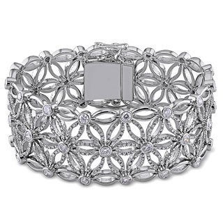 Miadora Signature Collection 18k White Gold 7 1/5ct Vintage Diamond Bracelet (G-H-I, SI )