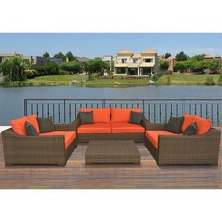 Atlantic Lexington All Weather Aluminum/ Wicker Patio Set