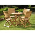 Capri Teak Wood Patio Dining Set