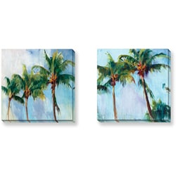 Gallery Direct Krowitz Palms Series Canvas Gallery Wrapped Set