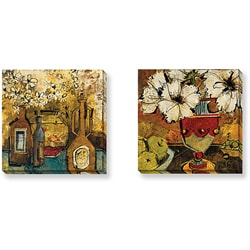 Maxweller 'Still Life' Series Canvas Gallery Wrapped Set