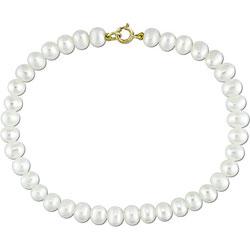Miadora White Freshwater Pearl Bracelet (4-5mm)