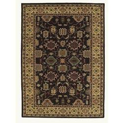 Hand-tufted Saiba Brown Wool Rug (8' x 10'6)