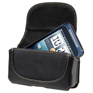 Universal Rugged Leather Case with Magnetic Flap and Belt Clip