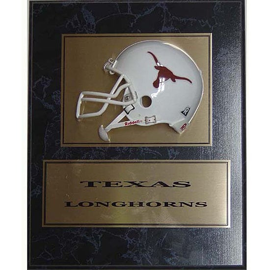 University of Texas 9 x 12 Helmet Plaque