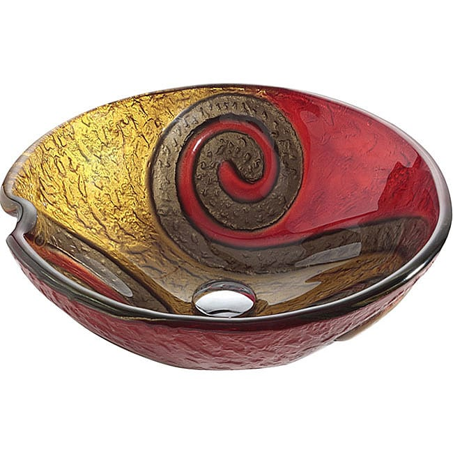 Kraus Copper Snake 17 mm thick Glass Vessel Sink