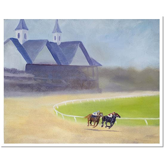 Michelle Moate 'The Downs' Signed Unframed Canvas