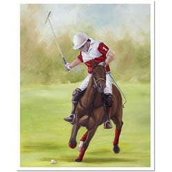 Michelle Moate 'Horse of Sport I' Unframed Canvas