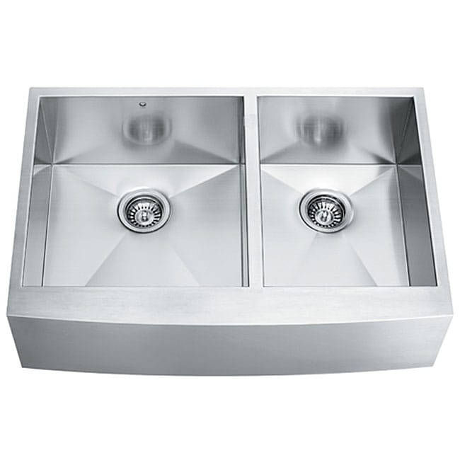 Stainless Steel Double Farmhouse Sink : Resistant Farmhouse Stainless Steel 16 Gauge Double Bowl Kitchen Sink ...