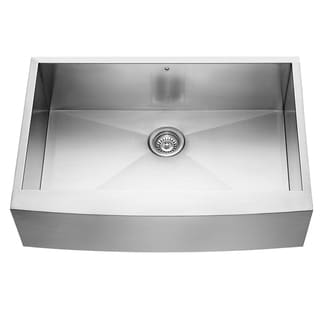 VIGO 33-Inch Farmhouse Stainless-Steel 16-Gauge Single-Bowl Drop-In Kitchen Sink