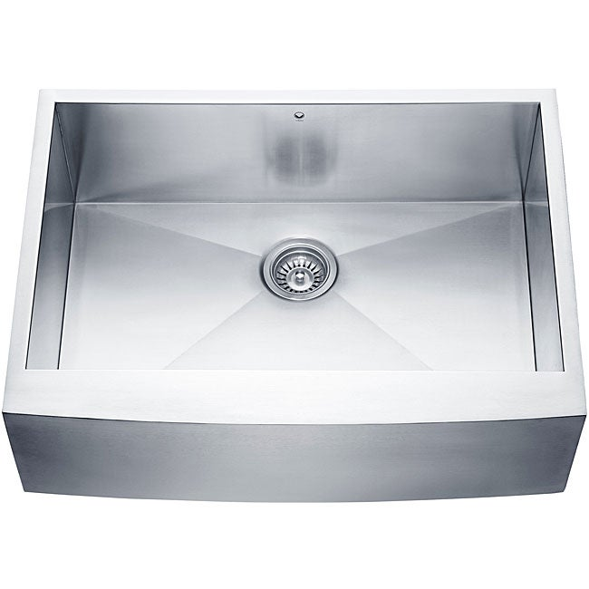 Farmhouse Stainless Steel Kitchen Sink : ... Scratch-Resistant Stainless-Steel 16-Gauge Single-Bowl Kitchen Sink