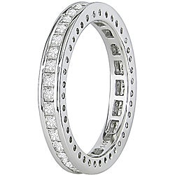 Miadora 14k Gold 1ct TDW Princess Cut Full-Eternity Band (H-I, I1-I2)