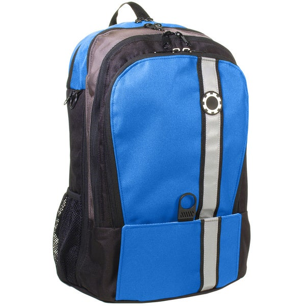 DadGear Retro Blue Stripe Diaper Backpack