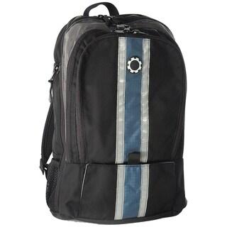 DadGear Blue Center Stripe Diaper Backpack