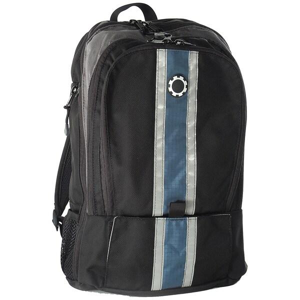dadgear blue center stripe diaper backpack 11316062 shoppin. Black Bedroom Furniture Sets. Home Design Ideas