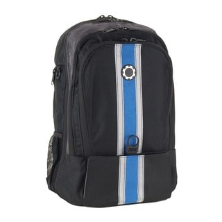 DadGear Blue Center Stripe Diaper Backpack